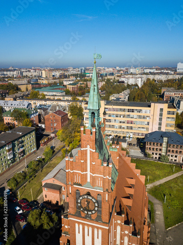 Spoed Foto op Canvas Theater Aerial: Philharmonic Organ Hall in Kaliningrad