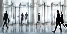Revolving Door Glass Office
