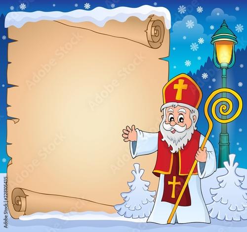 Saint Nicholas topic parchment 3