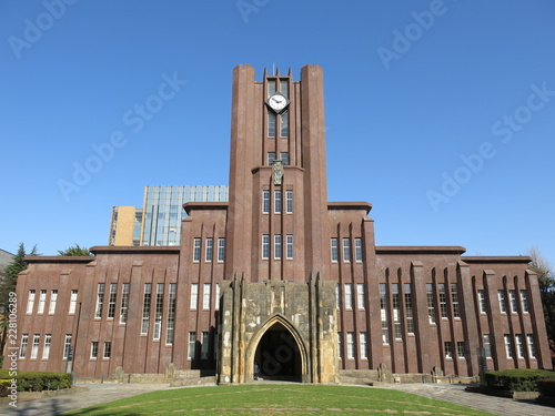 Wall Murals Asian Famous Place 東京大学の安田講堂 The University of Tokyo (Yasuda Auditorium)