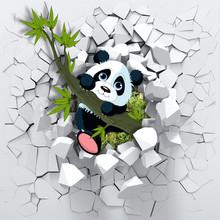 3d Background, Panda Peeping F...