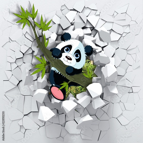 3d-tlo-panda-podgladajacy-od-lamanej-sciany-sciana-3d-wyglada-bardzo-uroczo-a-takze-wprowadza-rozne-kolory-do-pokoju-to-wizualnie-rozszerzy-dzieci