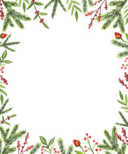 Rectangular Frame With Christm...