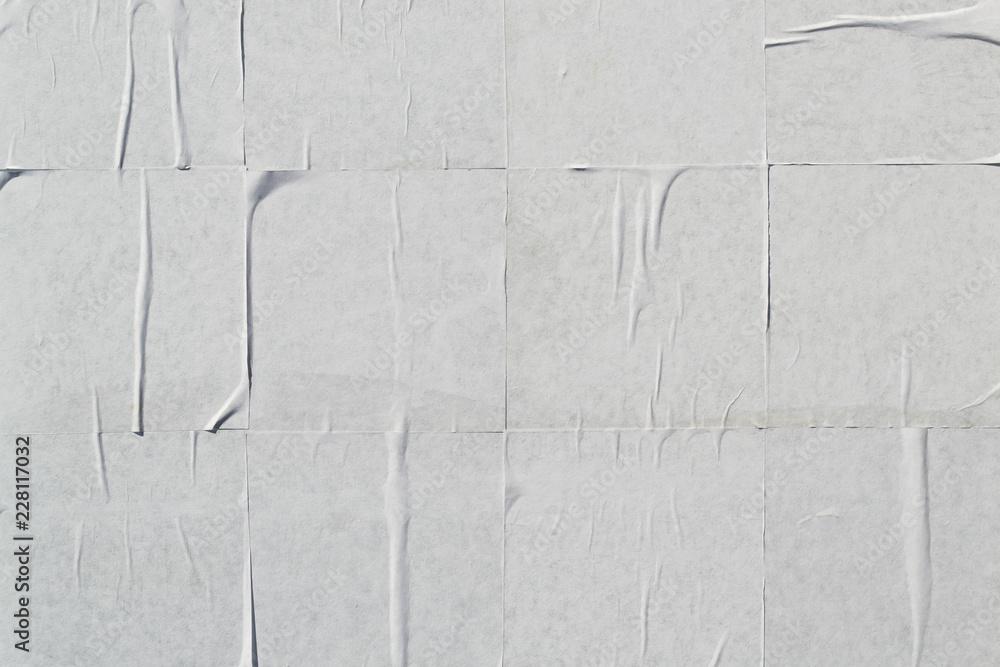 Fototapety, obrazy: White creased poster texture