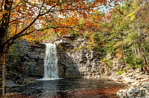 Fototapeta Awosting Falls. Minnewaska State Park Reserve Upstate NY, USA