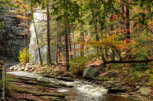Fotografia, Obraz  Awosting Falls. Minnewaska State Park Reserve Upstate NY, USA