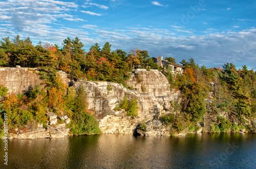 Fotografie, Obraz  view at rocks and lake in Minnewaska State Park Reserve, USA