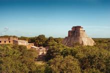 Ruins Of Uxmal - Ancient Maya City. Yucatan.  Mexico