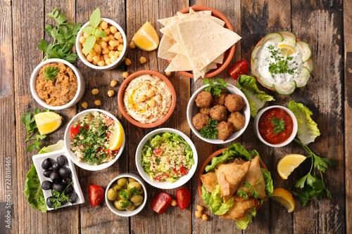 Fototapeta assorted lebanese food obraz na płótnie