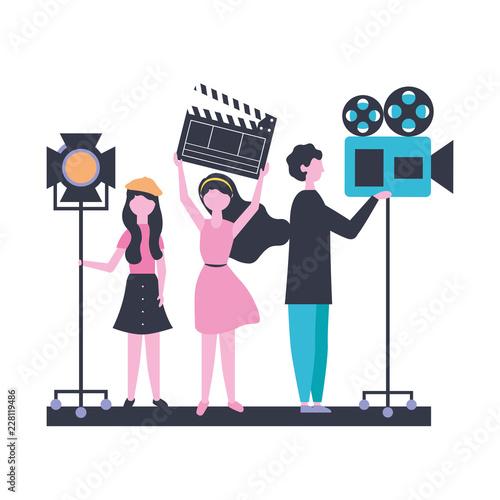 Obraz na plátne people team production movie film