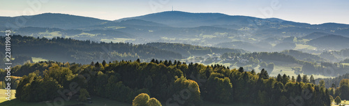 Recess Fitting Gray traffic Landschaft Bayerischer Wald