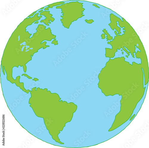 Staande foto Wereldkaart Map of World vector