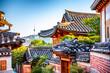 Leinwanddruck Bild - bukchon hanok traditional village at Seoul South Korea