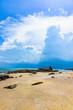 rocky seashore beach