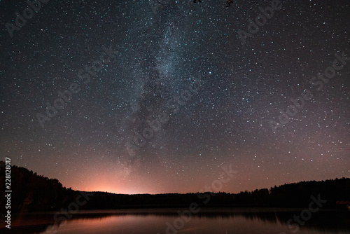 Spoed Foto op Canvas Nacht star sky with a milky way