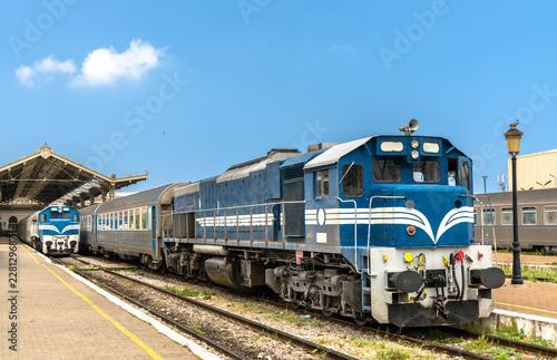 Poster Algérie Passenger train at Oran Station in Algeria