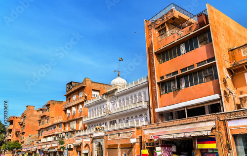 Deurstickers Asia land Buildings in Jaipur Pink City. India