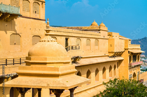 Deurstickers Asia land View of Amer Fort in Jaipur. A major tourist attraction in Rajasthan, India