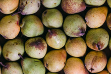 Delicious Fresh Pears In Layer