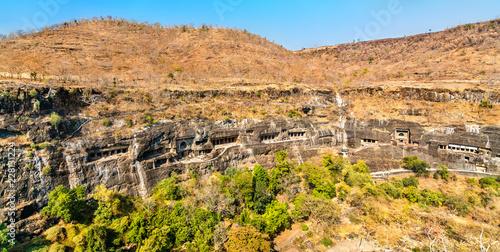 Deurstickers Asia land Panorama of the Ajanta Caves. UNESCO world heritage site in Maharashtra, India