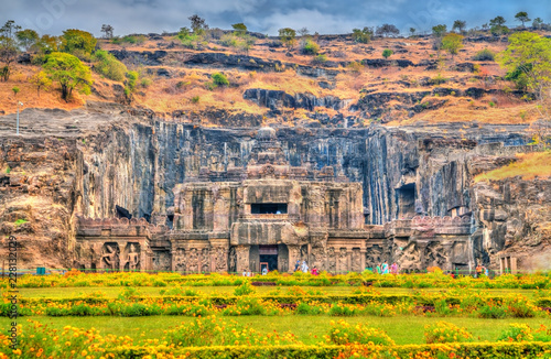 Deurstickers Asia land The Kailasa temple, the biggest temple at Ellora Caves. UNESCO world heritage site in Maharashtra, India