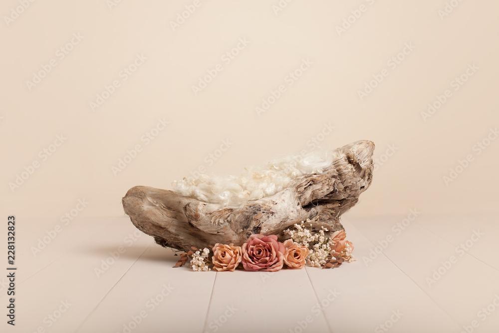 Fototapety, obrazy: Lovely flower background for newborn baby, concept of newborn baby.