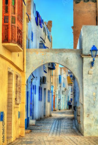 Staande foto Tunesië Traditional houses in Medina of Kairouan. A UNESCO world heritage site in Tunisia