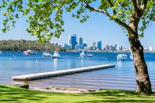 Matilda Bay And The Swan River At Crawley, Perth, Western Australia, Australia.
