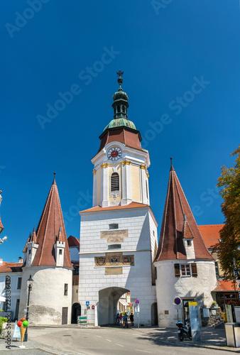 Fotobehang Centraal Europa Steiner Tor, a 15th century gate in Krems an der Donau, the Wachau valley of Austria