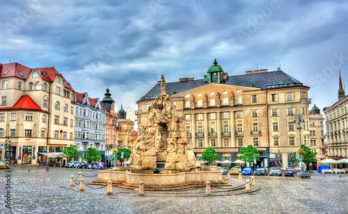 Photo  Parnas Fountain on Zerny trh square in the old town of Brno, Czech Republic