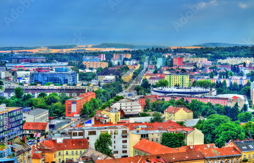 Spoed Foto op Canvas Centraal Europa Skyline of Brno, Czech Republic