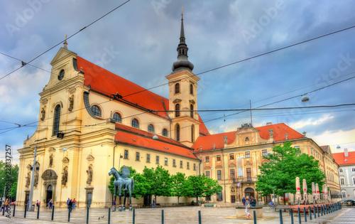 Spoed Foto op Canvas Centraal Europa Church of St. Thomas in Brno, Czech Republic