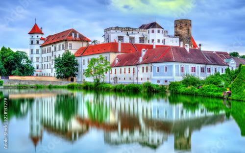 In de dag Centraal Europa Jindrichuv Hradec castle in South Bohemia, Czech Republic