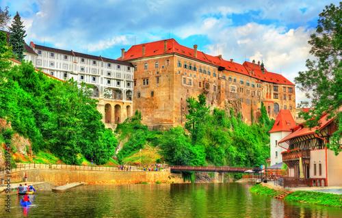Fotobehang Centraal Europa View of Cesky Krumlov Castle in Czech Republic