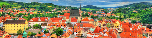 In de dag Centraal Europa View of Cesky Krumlov town, a UNESCO heritage site in Czech Republic