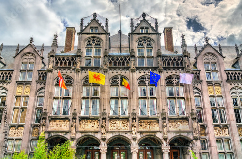 In de dag Centraal Europa The Palace of the Prince-Bishops in Liege, Belgium