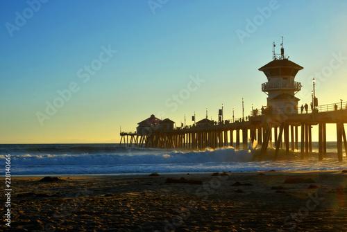 Huntington Beach Pier California USA during Sunset