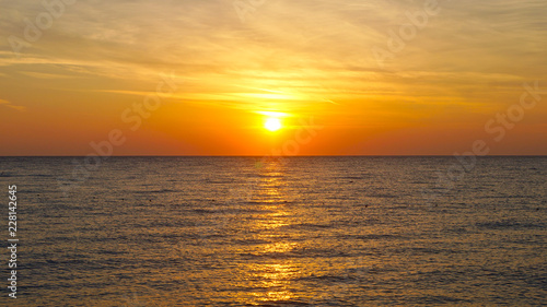 Poster Mer coucher du soleil sea sunrise