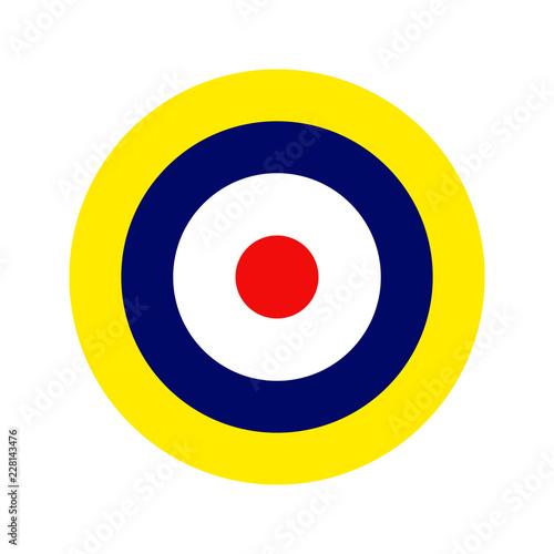 Fotografie, Obraz Royal Air Force roundel. Type A1