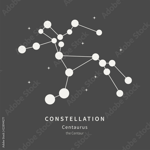 The Constellation Of Centaurus. The Centaur - linear icon. Vector illustration of the concept of astronomy.