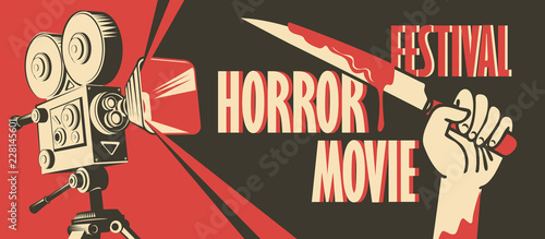 Vector banner for festival horror movie Fototapet