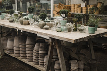 Vases And Pots With Plants On ...