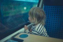 Little Toddler On The Train