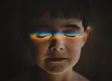 Portrait Of Boy With Spectrum ...