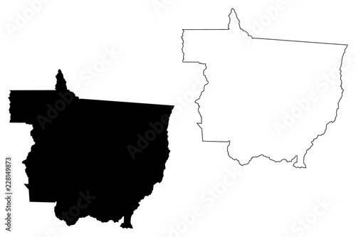 Fotografija  Mato Grosso (Region of Brazil, Federated state, Federative Republic of Brazil) m