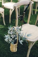 Flower Decorations On Wedding Chair