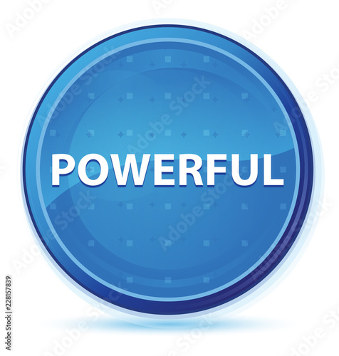 Fotografía  Powerful midnight blue prime round button