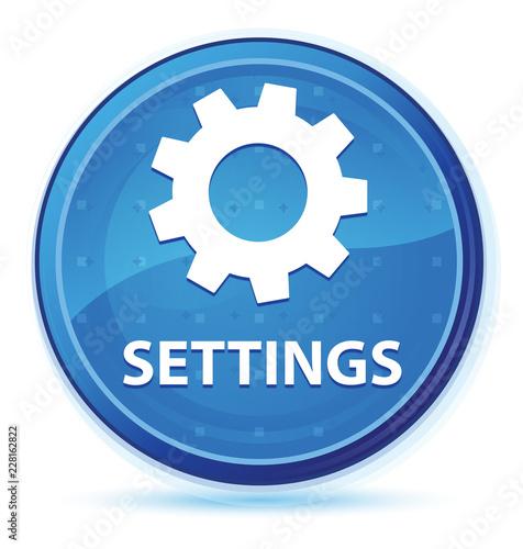 Fotografía  Settings midnight blue prime round button