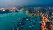 International Business Container Commodity Vessel Sea Ports In Hong Kong On October 9, 2018