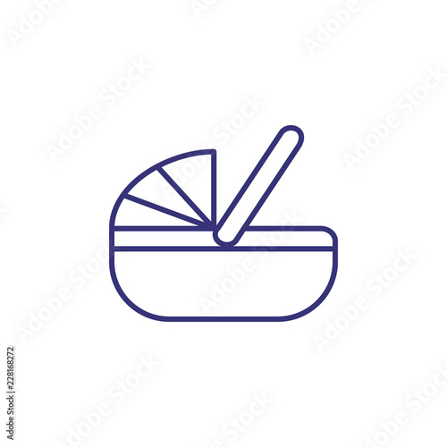 Photo Baby bassinet line icon